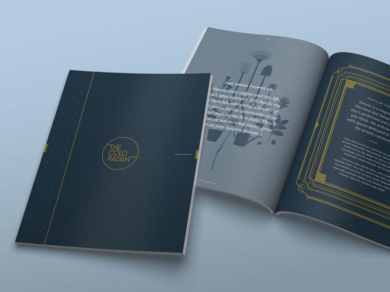 Coloradan Brochure Cover print branding design real estate denver coloradan