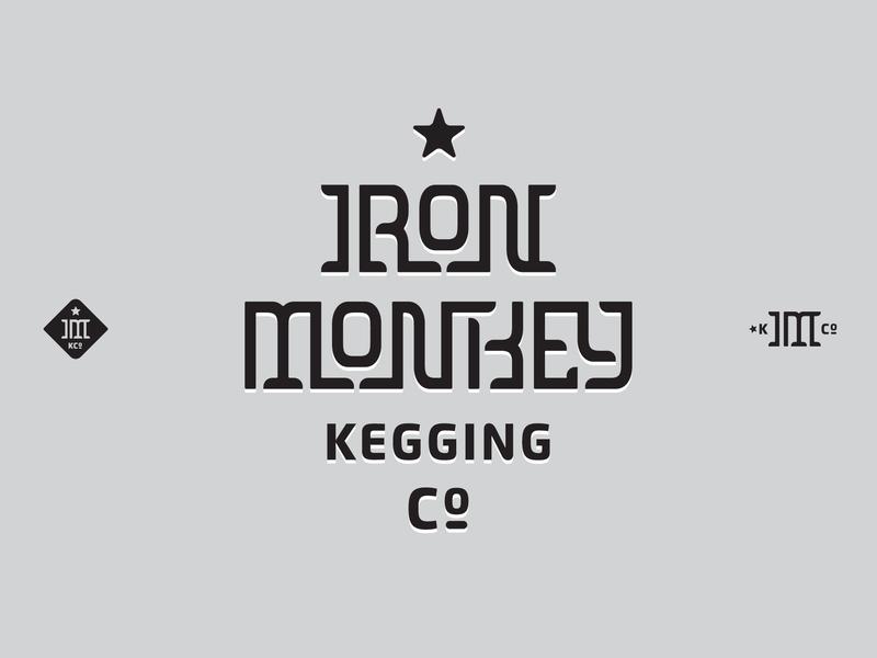 Iron Monkey Logo lettering unused branding identity logo keg wine