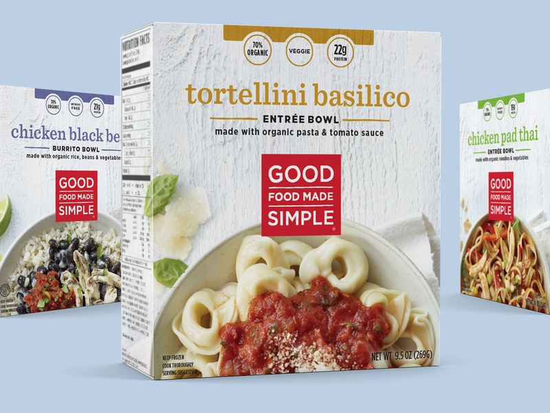 Good Food Made Simple Entrees branding systems packaging design good food made simple gfms