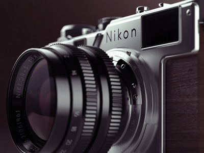 Nikon S3 illustration 3d dof vray rander 3dmax photo cg rendering
