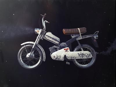 Pegas moto 3d cg dirt zashibis modeling bicycle motor