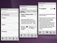 Wireframes for Digital Devotional App - Search Flow