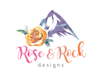 Rose & Rock: Etsy shop logo design