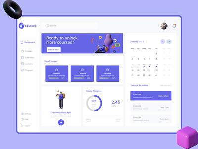 Educasio dashboard ui ui design ux webdesign figmaafrica web ui uidesign figma uiux ui