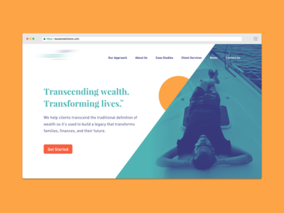 WIP Website progress corporate financial advisors process web design wip asmallstudio seattle