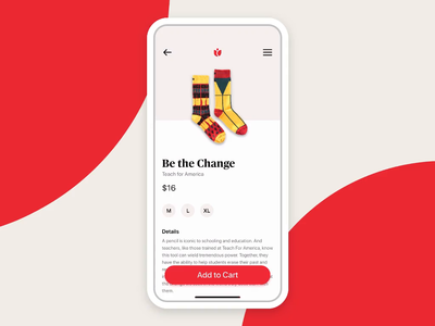 Voyce Threads | Mobile Shopping Experience shopping cart commerce mobile software design product design app ui ux user interface user experience asmallstudio seattle checkout animation
