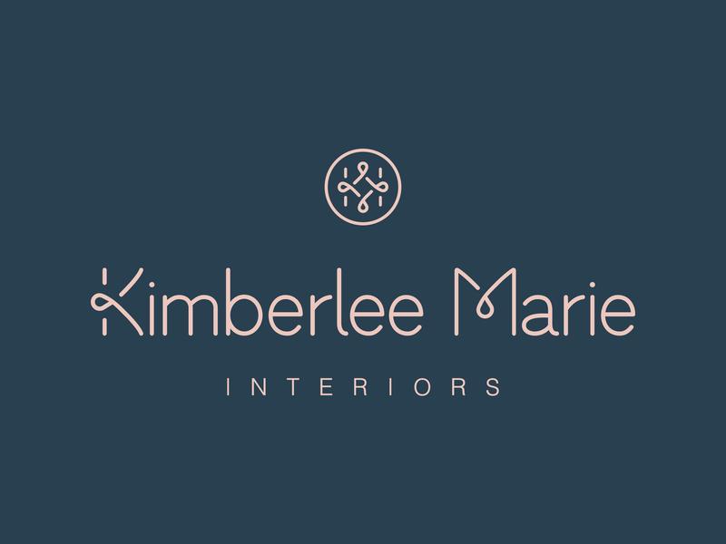 Kimberlee Marie Interiors | Brand Identity asmallstudio seattle local interiordesign reflection ribbon mirror logo design logo interior design identity architecture identity design branding