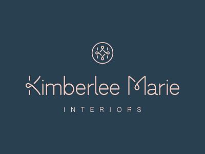 Kimberlee Marie Interiors   Brand Identity asmallstudio seattle local interiordesign reflection ribbon mirror logo design logo interior design identity architecture identity design branding