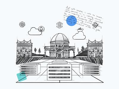 The Cloud Renaissance   Cloud Computing Illustrations a small studio