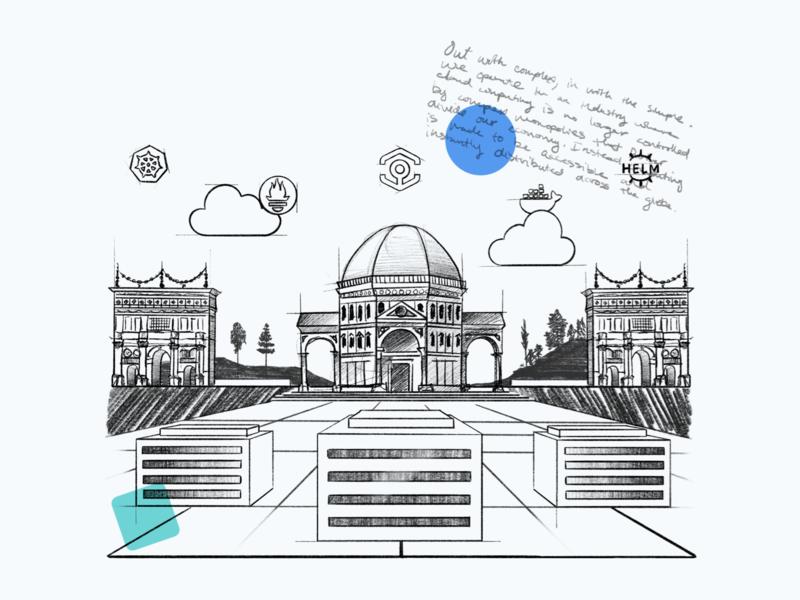 The Cloud Renaissance | Cloud Computing Illustrations a small studio