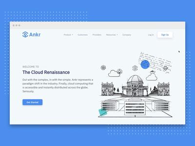 Ankr | Website Redesign visual identity web design product design decentralized distributed computing data center illustrations cloud renaissance startup blockchain crypto