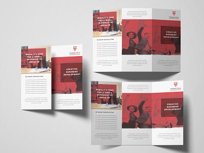 Tri fold brochure 4 logo illustration vector typography icon design