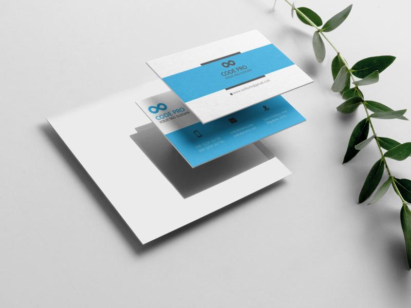 Busines card illustrator vector typography icon design