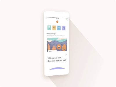 Headspace Check-in's check-in faces recommendations suggestions search feelings emotions mindfulness meditation headspace