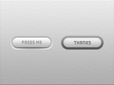 Ui simplistic white button