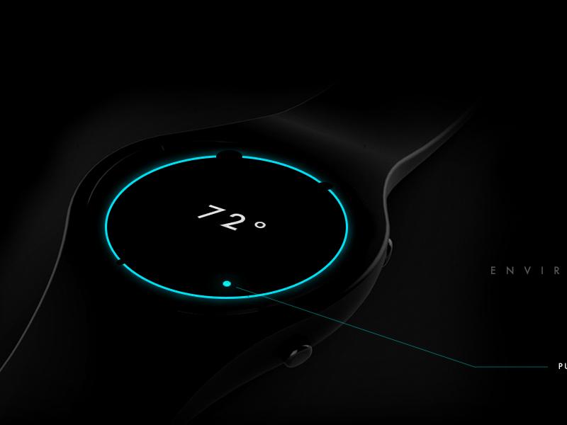 Nest Smartwatch Controller UI