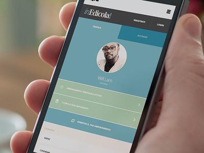 Profile profile mobile app cart account responsive