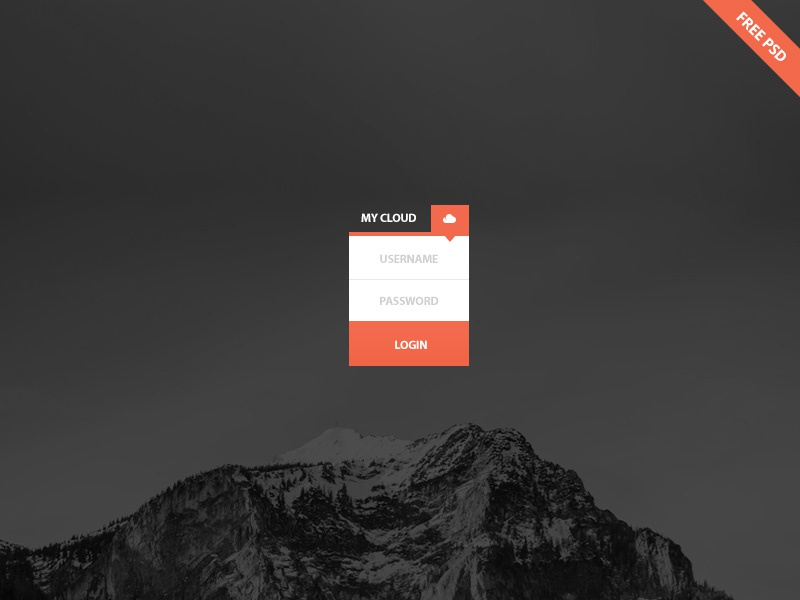 Mini login (free psd)