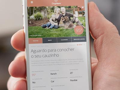 Dh Profile Page mobile ui app responsive clean flat light