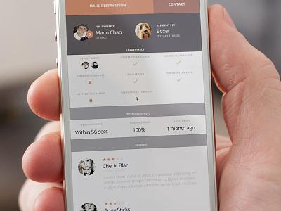 Dh Owner Profile mobile ui app responsive clean flat light
