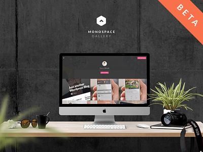 Monospace Gallery web app gallery beta responsive portfolio