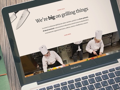 Grill typography app web responsive