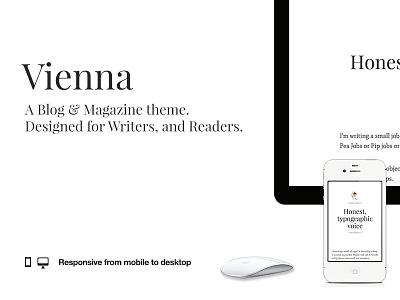 Vienna Typography 101 web responsive theme ghost typography