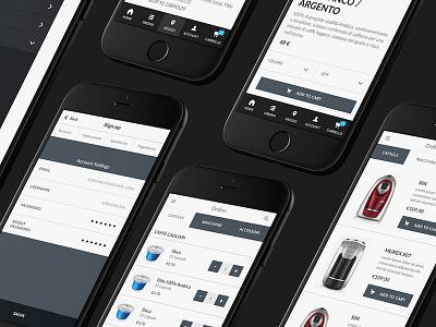 Coffee eCommerce Mockups ecommerce app mobile coffee
