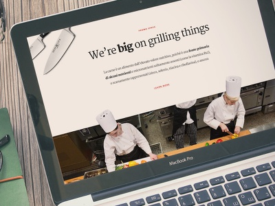 Grill bold clean typography food app grill web