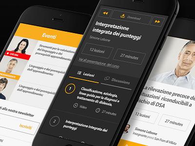 eLearning Platform clean light dark platform app web mobile elearning