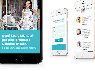 Gelato blue icecream app web clean