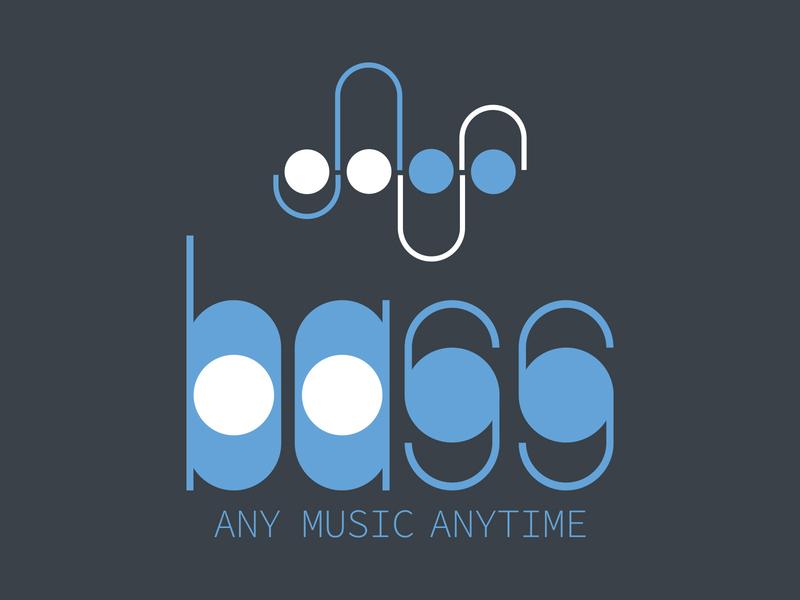bass logo typography bass logo music app streaming logo instrument beat pitch streaming music bass music illustrator dailylogochallenge branding design vector logo design logo icon design branding brand