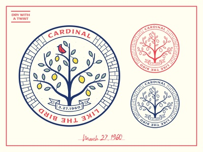 Cardinal Crest seal coaster italy cardinal lemon crest logo illustration