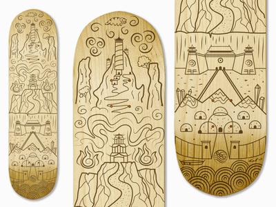 Skateboard: Air, Fire, Earth, Water
