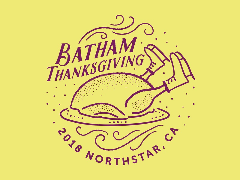 Thanksgiving Logo 2018 nevada california ornament northstar tahoe reno ice skate thanksgiving turkey illustration