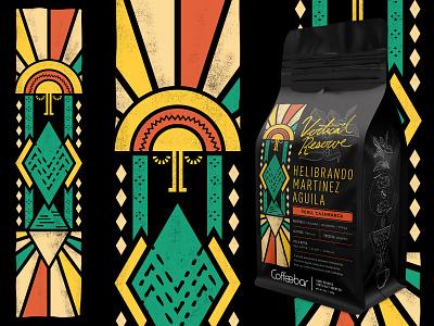 Coffeebar   Vertical Reserve   Helibrando Martinez Aguila packaging branding nevada tahoe reno sun inca peru coffeebag design coffee illustration