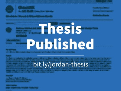 Thesis Published