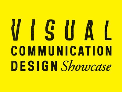 Visual Communication Design Showcase Logo