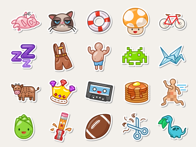Swarm Stickers app iphone collectables icons stickers foursquare swarm
