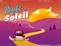 Route du Soleil Wedding Postcard