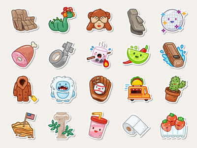 More Swarm Stickers app iphone collectables icons stickers foursquare swarm