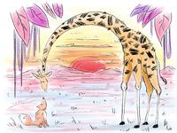 Fox & Giraffe