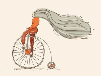 Penny Farthing hair sepia illustration old bicycle bike penny farthing