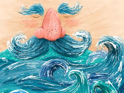 Captain Seabeard beard sea sailor captain inspiration art illustration