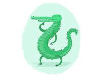 Bendy Crocodile
