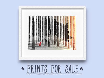 Prints For Sale print store little red riding hood artwork texture kids illustration prints