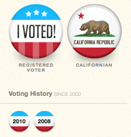 Voting history buttons