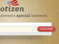 Votizen Prelaunch Landing Page
