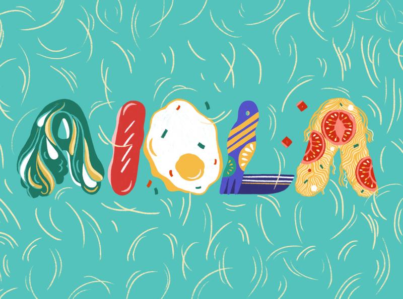 AIOLA illutration typeface illustration illustration art illustrator