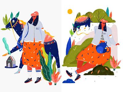 LILA AND THE BOSS illustration digital art illustrator illustration digital illustration art illustration